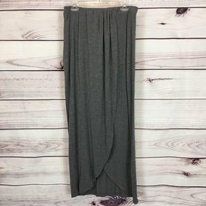 APT9 Maxi Wrap Front Stretch Knit Skirt